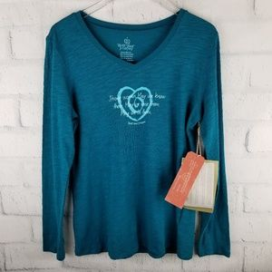 TRUST YOUR JOURNEY BRAND TURQUOISE LONG SLEEVE TEE